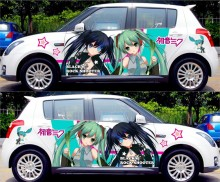 DIY Japanese Anime Hatsune Miku Sticker Car Body Cartoon Stickers Racing Drifting ACGN Decals Itasha G Festa Change Color Film