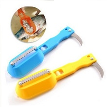 New Practical Fish Scaler Scale Scraper Clam Opener for Cleaning Scraping Fish Kitchen Gadgets Cooking Tools(China)