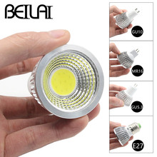 BEILAI 10PCS Dimmable LED Spotlight GU10 85-265V 3W 5W 7W COB LED Lamp E27 220V 110V Spot Candle MR16 12V LED Bulbs Light Luz