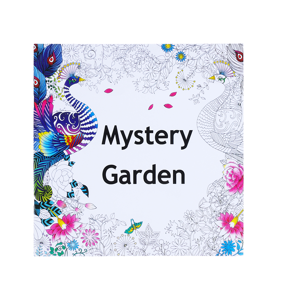 1pc Mystery Garden Fun Designs Stress Relief Coloring Book Mandalas Animal Relieve Stress for Kids Adult Coloring Book 25*25cm(China)