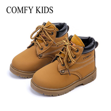 COMFY KIDS 2017 NEW Winter kids Warm Snow boots Children Warm Antiskid Snow Boots Cow Muscle Bottom Kid Cow Leather Shoes