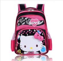 Children's student bag Cute sweet girls Hello Kitty Backpack Kids animal cat PU Backpack Schoolbag Children's bags