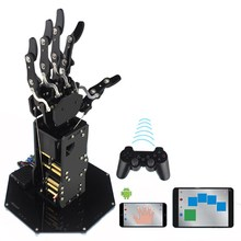 Newest uHand Metal Manipulator Arm RC Robot Arm Five Fingers Black For Gift Present DIY Toys Models(China)