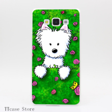 2963CA Rose Garden Spring Westie Transparent Hard Cover font b Case b font for Galaxy A3