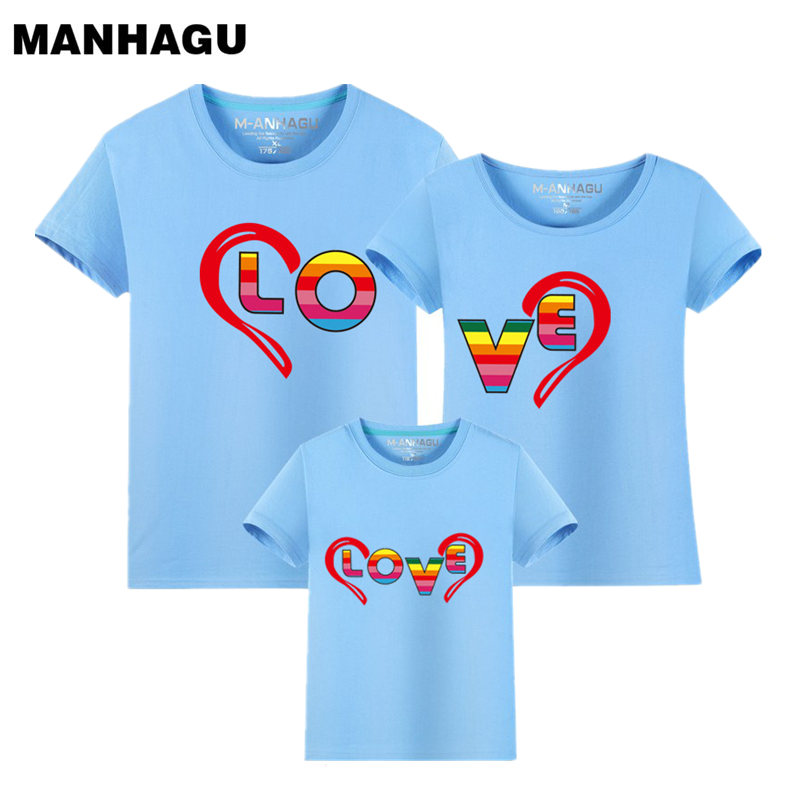 1 piece 2017 Summer Fashion Family Look Short Sleeve T Shirt Children's Clothing Trend Casual Top Tees Family Matching Outfits(China (Mainland))