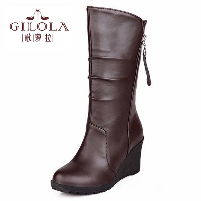 2016 new fashion ankle platform wedge high heels martin women boots womens shoes woman autumn winter boots party #Y1147718F<br><br>Aliexpress
