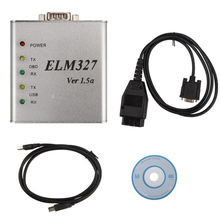 USB Aluminum box Metal ELM 327 1.5V USB CAN-BUS Scanner ELM327 Software OBD2 ELM 327 Metal