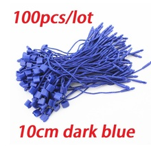 100pcs/lot blue hang tag string 10cm garment hang tag cord for stringing hangtag seal tag