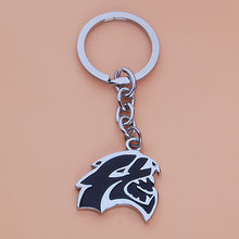 BBQ@FUKA Car Chrome Metal Black HELLCAT Emblem Key Chains Key rings keychain Fit for 1999-2017 Dodge Ram Challenger