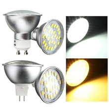 Newest 4W 5730 SMD 27 LED Lamp Bulb GU10/MR16 Spotlight LED Spot Light AC220V 400-500lm Warm Pure White Replace Halogen Lamp(China)