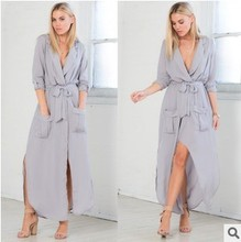 Women dress Loose Full Sleeve Ebay Critical Edition Dresses Black Army Green Light Grey 24964