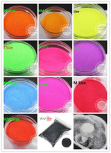 12 Neon Matte colors 0.1MM 004 solvent resistant fine Glitter Powder for nail decoration and others DIY Accessories(China)