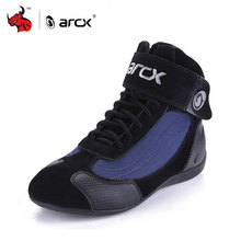 ARCX Genuine Cow Leather Motorcycle Riding Boots Street Moto Racing Ankle Boots Motorbike Chopper Cruiser Touring Biker Shoes(China)