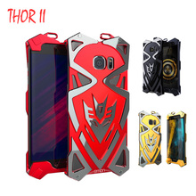 Simon Thor IRON MAN Luxury Cases cover For samsung galaxy s7 edge case Metal Aluminum Tough Armor Phone coque fundas for S7(China)