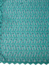 Lace Material For Sale Teal Cord Lace Chemical Lace Suppliers For Party p3970_2(China)