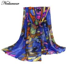 HOT SALE Women Autumn winter Warm scarf Lady Soft Long Voile Large Wrap Shawl Stole Scarves Pashmina and neckerchief(China)