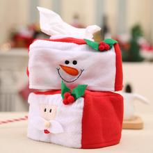 Merry Christmas Tissue Box Cover Santa Claus/Snowman Cover Christmas Decoration for Home Xmas Table Ornament(China)