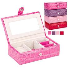 Fashion jewelry Accessories box display plate stud earring storage box ring wedding gift birthday packaging makeup organizer box