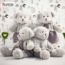 Lovers bear doll stuffed animals pillow baby cushion birthday gift 45/55cm Cute new style gray bear plush toys(China)