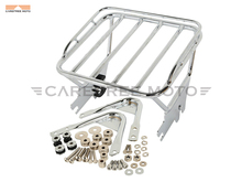 Chrome Motorcycle Two Up Luggage Rack Docking Hardware Kit Moto Mounting Rack case for Harley Touring Electra Glide 1997-2008