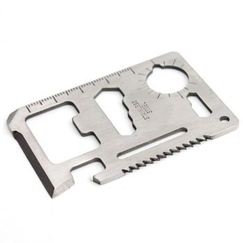 11 in 1 Multi Tool Army Hunting Survival Kit Pocket Credit Card Knife Camp Widely Used For Camping Sport #FLQ086-69S