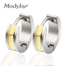 Buy 2017 Popular Hip Hop Bling Stud Stainless Steel Earring Brand Geometric Gold-Color Stud Earrings Men Dress Free for $2.99 in AliExpress store