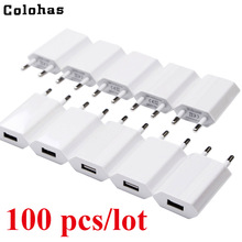 Wholesale 100pcs /Lot EU/USA CA Plug Travel Wall Charger For Apple iPhone 6 6s 5 5S SE 5C 4 4S 3GS iPod High Quality Charger