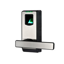 Biometric Fingerprint Door Lock with Mechanical Key Free-style Handle Smart Entry Intelligent Electric Keyless Lock lkPL10(China)