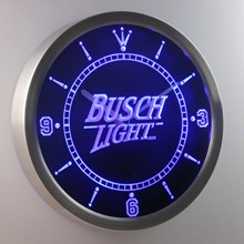nc0481 Busch Light Beer Neon Sign LED Wall Clock(China)