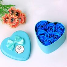 6Pcs Heart Scented Bath Body Petal Rose Flower Soap Wedding Decoration Gift Best wonderful(China)