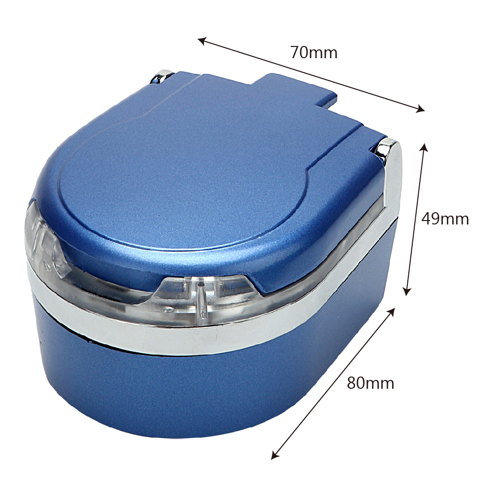 Blue Colors Beautiful Portable LED Car Ashtray Smoke