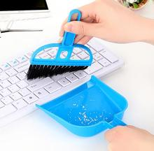 2pcs/set Hot sell mini desktop Cleaning Brush clean sweep Keyboard Brush with dustpan Fingerboard Brush Small Broom Brush Set