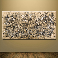 2016 Cuadros fashion sale wall art Large paintings For Home Decoration Ideas painting canvas Jackson Pollock Number 1a 1948