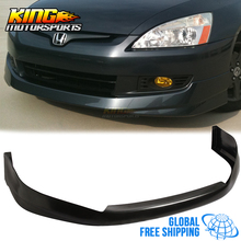 For 03-05 04 Honda Accord 2Dr Urethane Front Bumper Lip Spoiler Hfp-Style 2003 2005 Global Free Shipping Worldwide