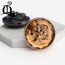 38mm mix 1pcs flowers metal Accessories diy metal Buttons Sweater fur Button,gold buttons flowers Acrylic metal buttons