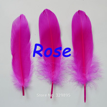 Wholesale! 1000Pcs/lot  DIY Natural  Goose Feathers Rose Color Home Christmas Cosplay Decoration Clothing Shoes Hat Accessories