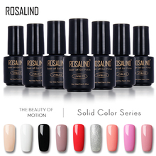 ROSALIND 7ML 58 Pure Colors Gel Varnish Nails Art Vernis UV LED Primer Semi Permanent LED Soak-Off Gel Lacquer Gel Nail Polish(China)
