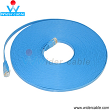 10m Blue Super Speed PVC Rohs Flat CAT5E Lan Cable