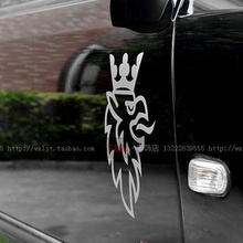 For Saab Car Sticker Decal Personalize Eagle Head Portrait Cutout Waterproof Door Sticker