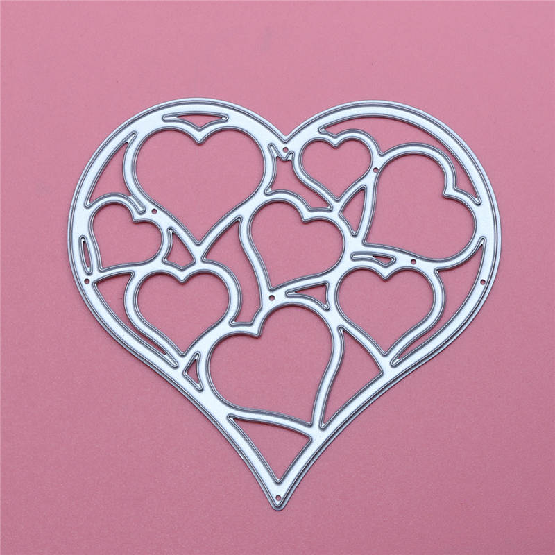 Metal Hollow Out Heart Cutting Dies For Scrapbooking DIY Decorative Embossing Folder Suit Paper Cards Craft Die Cutting Template(China (Mainland))