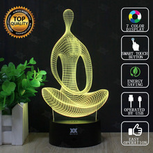 Meditation Lamp Statue of Liberty 3D Lamp LED Novelty Night Lights USB Light Child's Birthday Gift HUI YUAN Brand