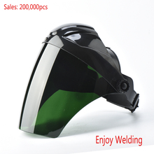 Nice design  Mig Tig  welding Protective face shields  masks hood, green CE certificate PC welding hard hat helmet goggles CE
