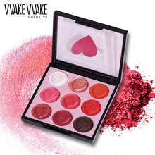 HOLD LIVE 9 Colors Professional Shimmer Matte Eye Shadow Pigment Eyeshadow Palette Glitter Eyes Makeup Shadows Make Up Kit(China)