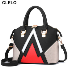 CLELO New Designer Handbags Women Pu Leather Fashion Patchwork Panelled Handbag Female Shoulder Messenger Bag Ladies Tote Bags(China)