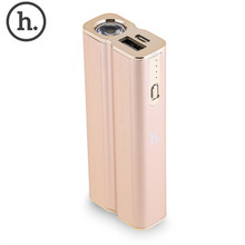 HOCO 5000mAh UPB07 Portable Power Bank Mobile Cahrger External Battery PoverBank LED Electric Torch Outdoor for mobile phone
