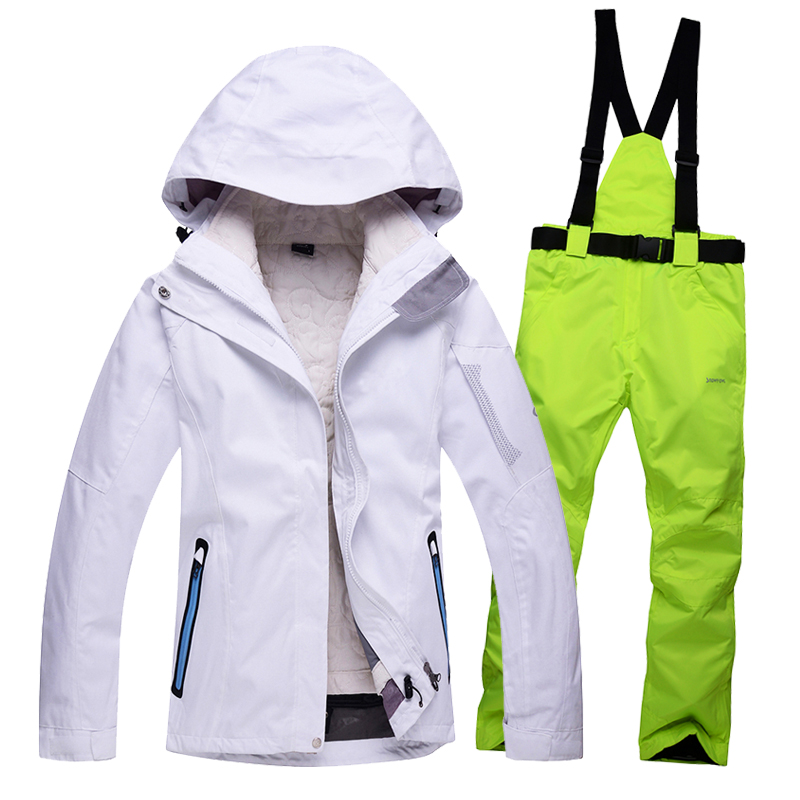 Free shipping ski suit women 2016 Waterproof Ski Jacket womens Snow Sets Winter ski suit Thicken Warm Snowboard Jacket<br><br>Aliexpress