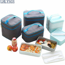 LHLYSGS Brand 1 Set Fresh Keeping lunchboxes Insulated Lunch Bag Women Hand Carry Thickened Tin Foil Insulation Cooler Bag