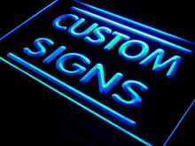 Multi Color Remote Control Custom Neon Signs Design Your Own LED Neon Signs Rectangle Round Shape(China)