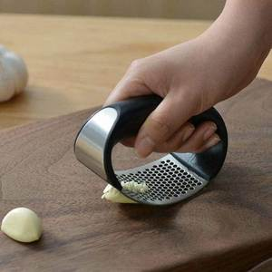Garlic-Press-Rocker Slicer Gadget-Tool Crusher-Squeezer Chopper Mincer Handle Kitchen