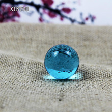 XINTOU 1 Piece 3 cm Crystal Sphere Ball Natural Feng shui Raw Amber Stone Mini Home Office Desk Gadgets Ornaments Garden Decor(China)